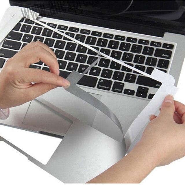 2016 NOVAS Peles de Prata Adesivo Para Mac MacBook Air Pro Retina 11 12 13 15 com Toque Bar Guarda Caso cobertura Da superfície Película Protetora