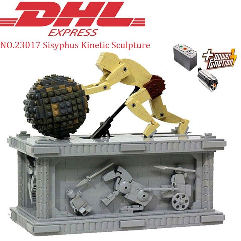 купить Lepin 23017 1462Pcs Technic MOC Sisyphus Moving Kinetic Sculpture Set Educational Building Blocks Bricks Stacking Toy Model Gift по цене 4549.03 рублей