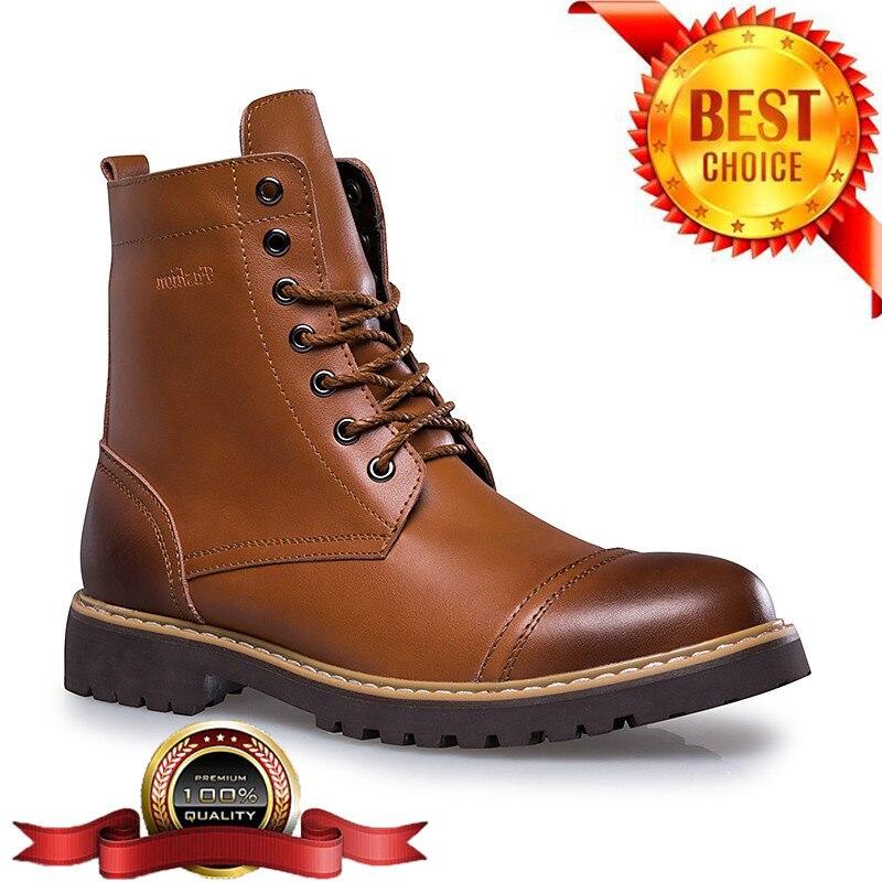 00985344097 Cheap Talla 38 46 botas de motocicleta hombres invierno Sheos cuero genuino  hombres botas militares abrigo