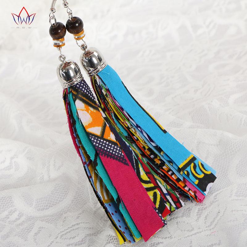 BRW 2019 Тканіна Афрыканскія завушніцы - Модныя ўпрыгажэнні - Фота 3