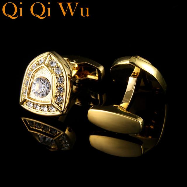 Luxury Cufflinks Men's Jewelry French Shirt Sleeve Buttons Knight Design Cuff Link High Cuffs