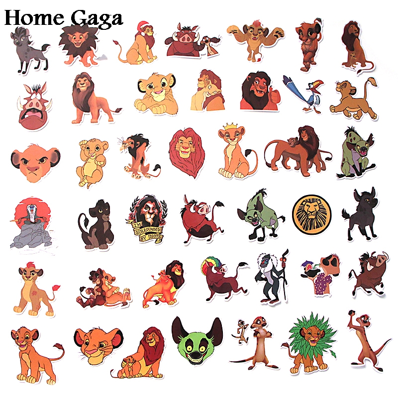 Homegaga 40pcs Lion king 90s Art print home decor wall notebook phone luggage laptop bicycle scrapbooking decals stickers D1846 in Stickers from Home Garden