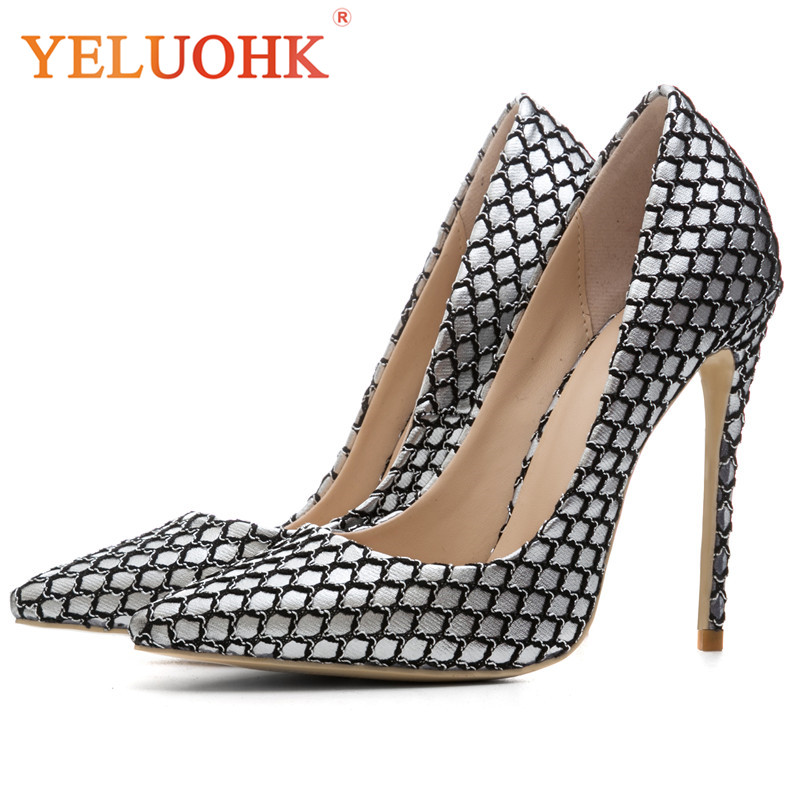 Sexy Extreme High Heels Big Size Spring Shoes Women Heels Fashion Women Pumps big size 40 41 42 women pumps 11 cm thin heels fashion beautiful pointy toe spell color sexy shoes discount sale free shipping