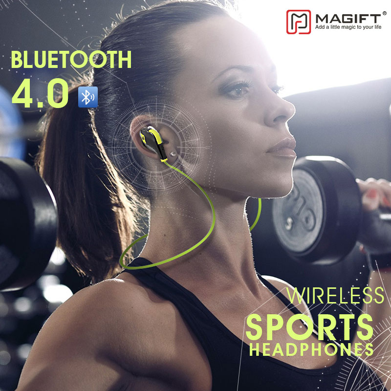 Magift5 Wireless Bluetooth Headset Stereo Sports Earphones with Micphone for Smartphones In-ear Bluetooth 4.1 Wireless Headsets
