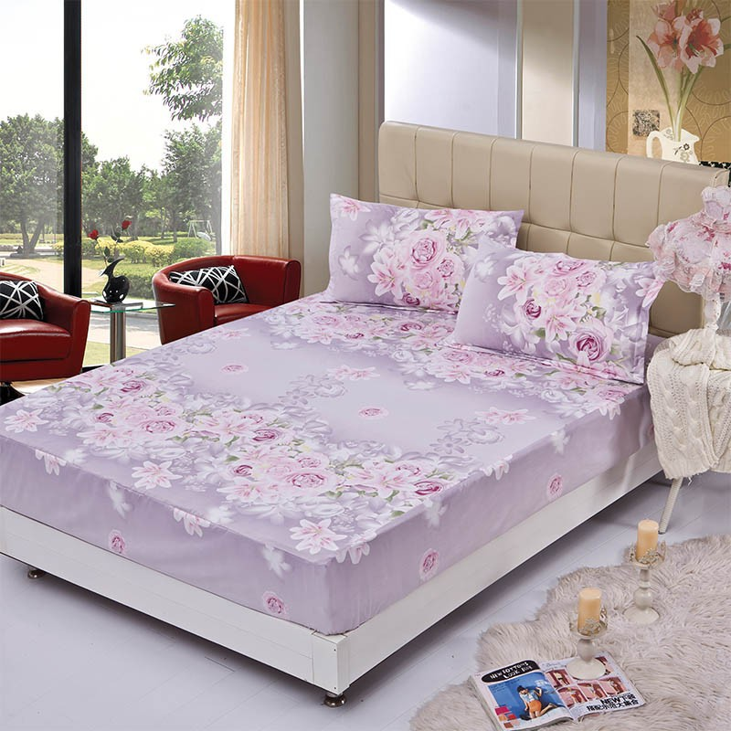 Home textile bed sheet sheet flower mattress cover printing bed sheet elastic rubber bedclothes 180*200cm summer bedspread band 13