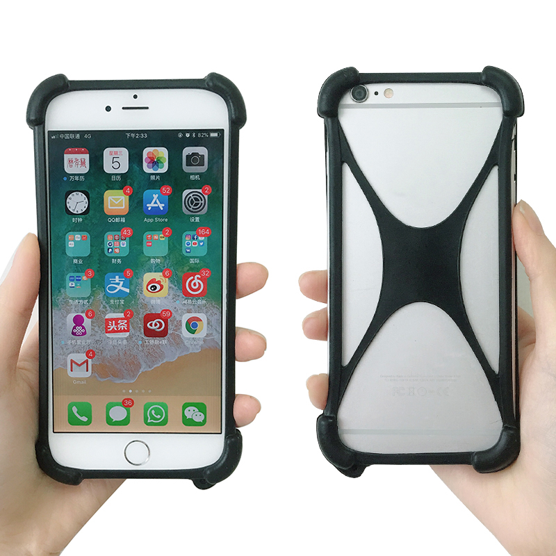 best loved 8fd0e ee3a6 US $3.67 8% OFF|For Argos Bush 5 Inch Android Smartphone Case Universal  Silicone Protective Back Skin Frame With Lanyard Back Shell-in Phone Bumper  ...