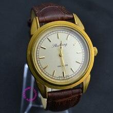 Bon pour le prix de gros de l'acheteur de bonne qualité homme mens vintage de luxe classique antique véritable en cuir à la main Vent montre mécanique