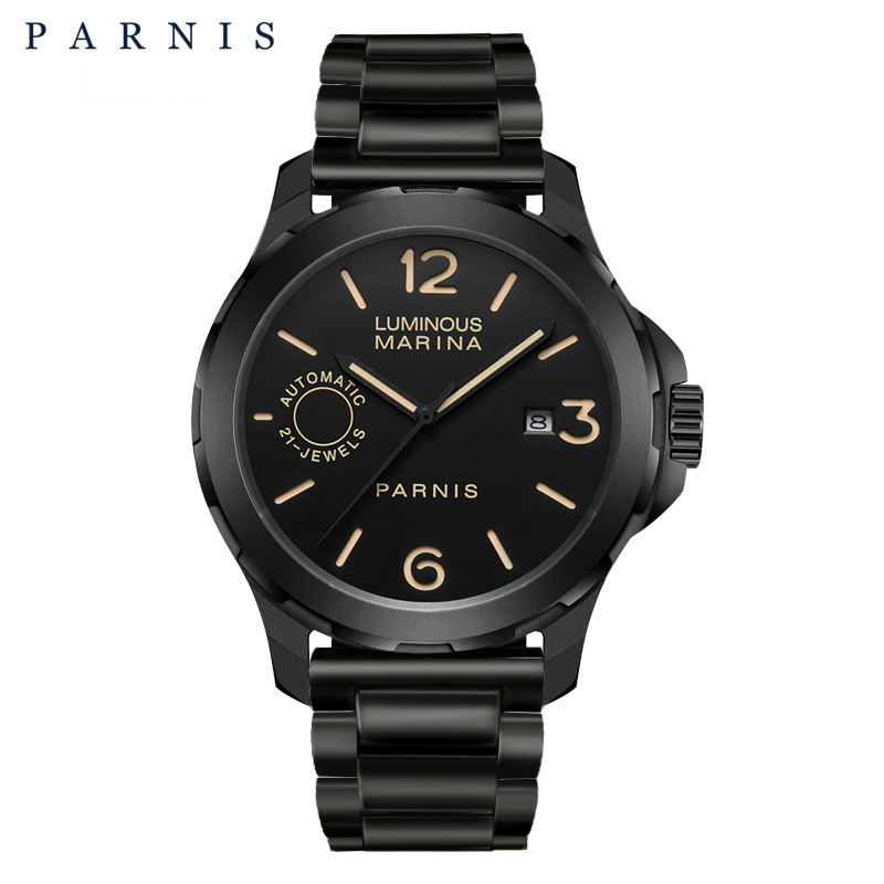 2018 Nieuwe collectie Parnis 44m heren horloges mechanische horloges - Herenhorloges - Foto 1