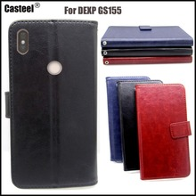 Casteel Classic Flight Series high quality PU skin leather case For DEXP GS155 Case Cover Shield