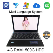 2017 With DVD-RAW windows 7/8 system 15.6 inch laptop Intel Celeron J1900 2.0GHz 4G ram 500GB HDD in camera tablets