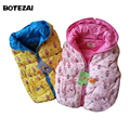 Retail Autumn Winter Children's Clothing outwear Cartoon baby girls fashion warm hooded vest kids cotton-padded Waistcoat