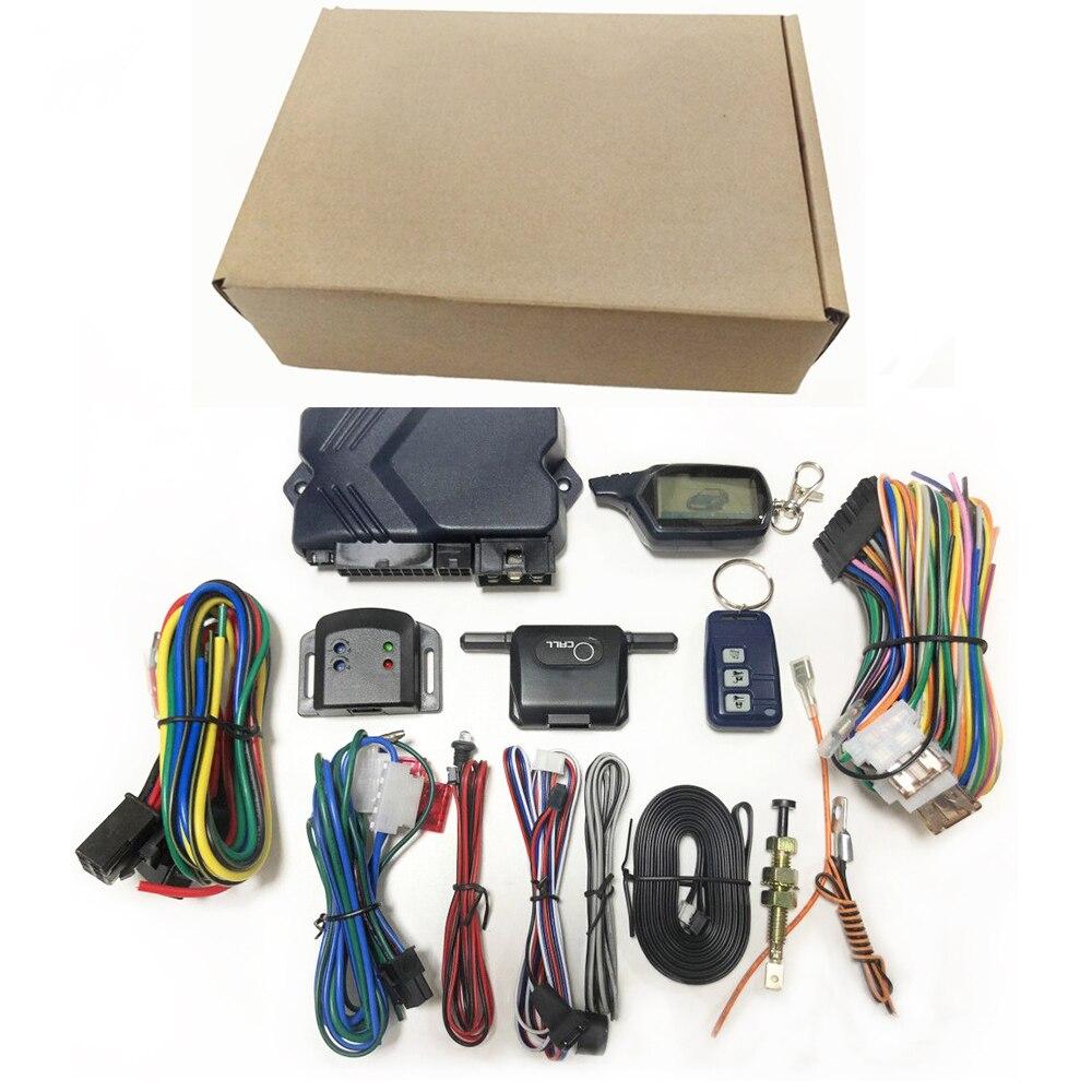 B9 Russe Version Two Way Alarme De Voiture Avec LCD Télécommande Antivol Alarme keychain RC Anti-vol Dispositif Système