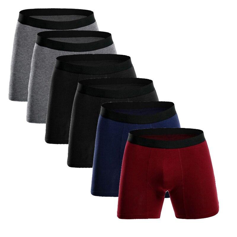 Europe Size Cotton Mens Underwear Boxer Long Leg Boxers Men Male Panties Men's Underpants Slip Calzoncillos Hombre Boxershorts