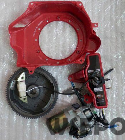 Chongqing Quality! Electric Start Build Kit(Incl  start  motor/Housing/flywheel, coil etc) for GX160/GX200/168F/170F Gas Engine