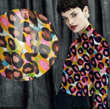 Printed silk fabric graffiti dress silk fabric custom fabric printing wholesale fabric drape fashion silk cloth