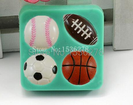 Us 1 28 45 Off Fussball Basketball Fussball Tennisball Kuchenform Schokoladenform Fondant Kuche Backkuchenwerkzeug Kuchen Dekoration Backformen