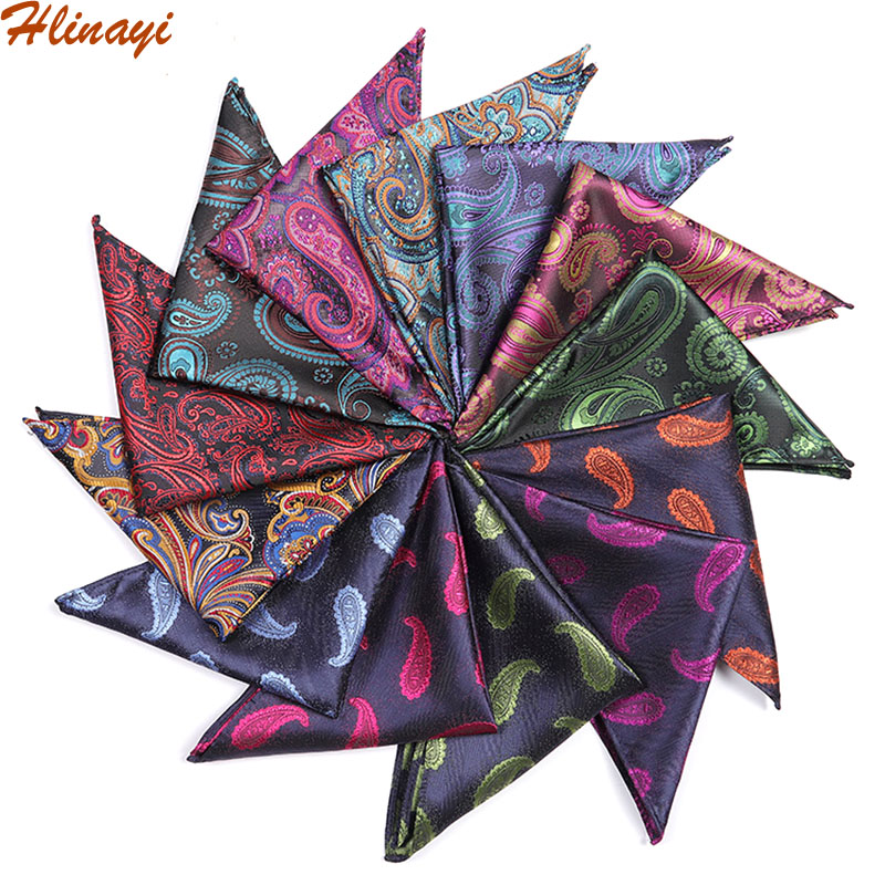 Hlinayi 2019 Men's Pocket Handkerchief Perlis Cashew Kerchief
