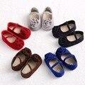 Gran Flor dulce Mary Jane Zapatos de Los Bebés Primeros Caminante Infant Toddler Newborn Prewalker Zapatos de La Princesa 5 Colores 3 Tamaño