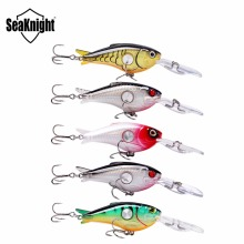 5Pcs/lot SeaKnight 55mm 10g Hard Fishing Lures Crankbait 1.8-3.9M Floating Wobblers Best Crank Hard Bait for Sea Carp Fishing
