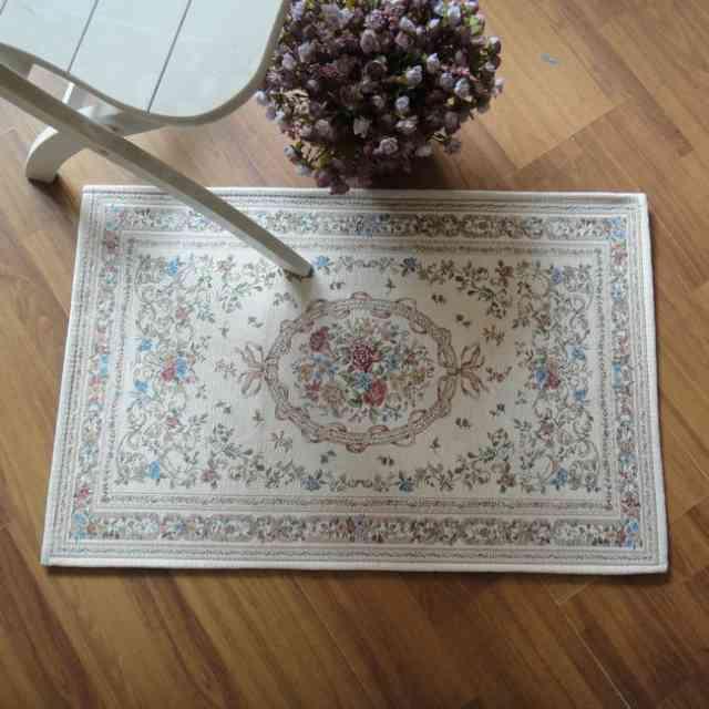 Elegant American Country Style Vintage Floral Room Floor Mats,Modern Area  Rug,Designer European Door Mat