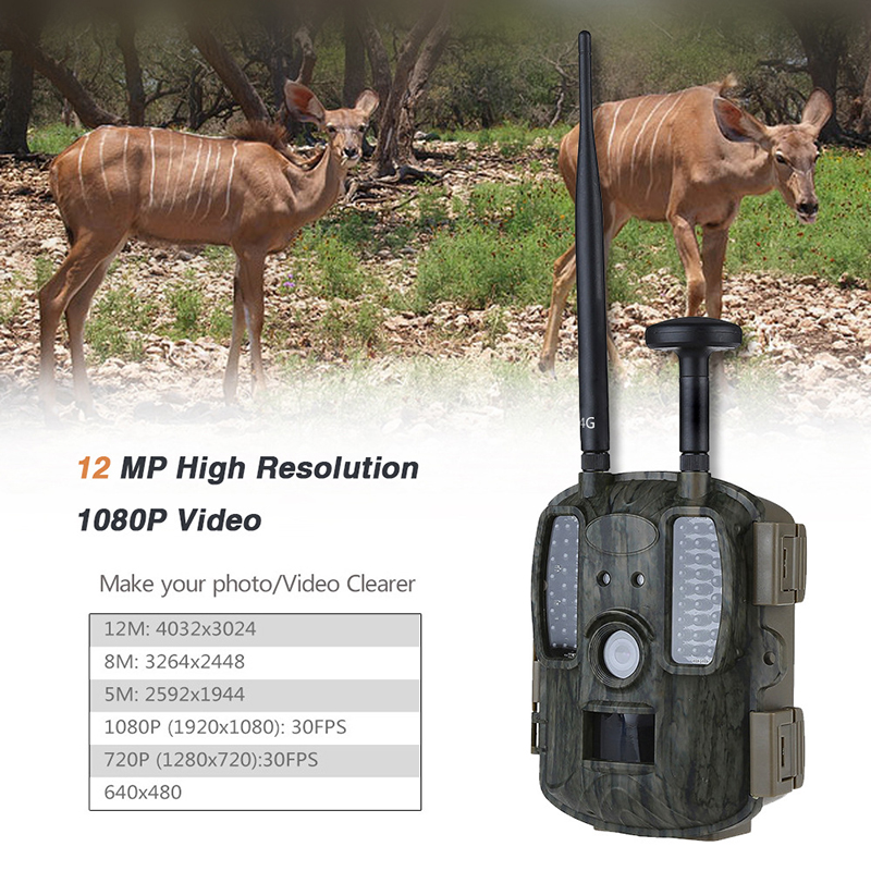 Skatolly 4G caméra de chasse GPS FTP caméra trail Email chasse faune caméra support MMS GPRS GSM Photo pièges 4G vision nocturne