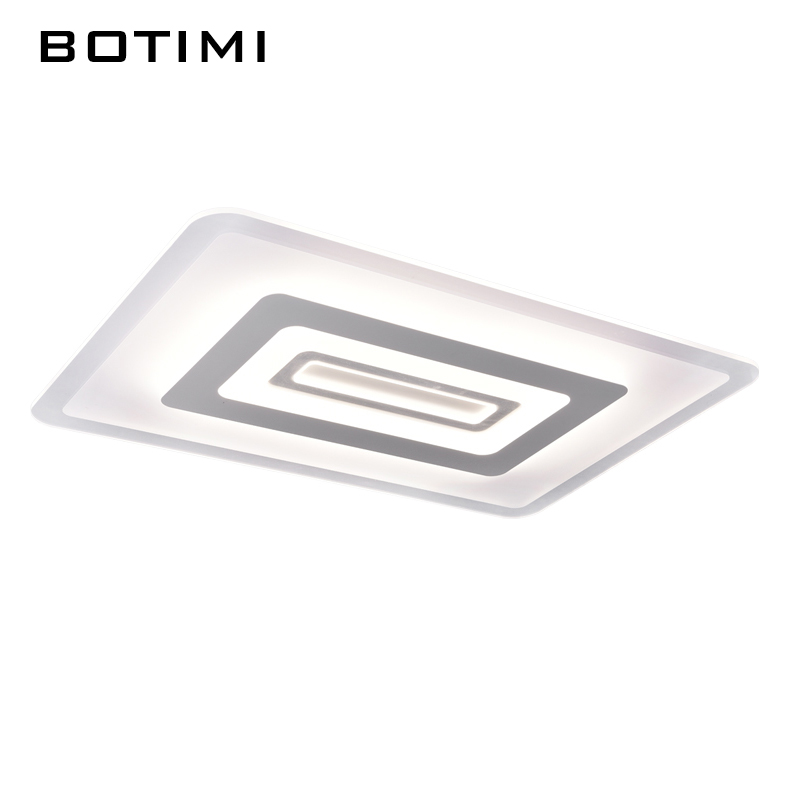 BOTIMI Modern LED Ceiling Lights Luminaria For Living Room Lamparas de techo Square Acrylic Dimmable Indoor Lighting Fixtures modern led ceiling lights for indoor lighting plafon led square ceiling lamp fixture for living room bedroom lamparas de techo
