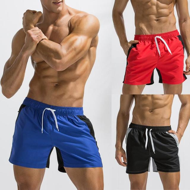 Men Breathable Swim Trunks Pants Swimwear Beach Shorts Slim Wear Color Stitching swimwear boys man swimwear short 10