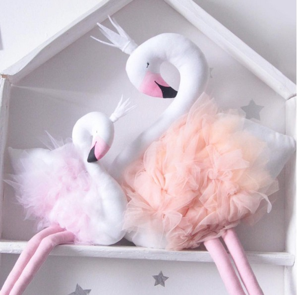 50cm Handmade Diy Kids Baby Swan Flamingo Stuffed Toy Room