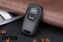 CYCTEM 2 Knoppen Car Remote Key Shell Blank Case Cover Vervanging Fit Voor Mazda 3 6(China)