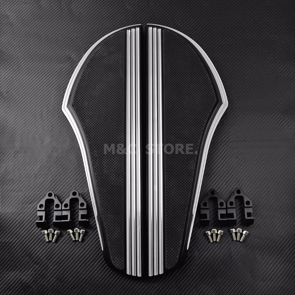 Motorcycle Chrome Passenger Driver Floorboards For Harley Touring 1986-2015