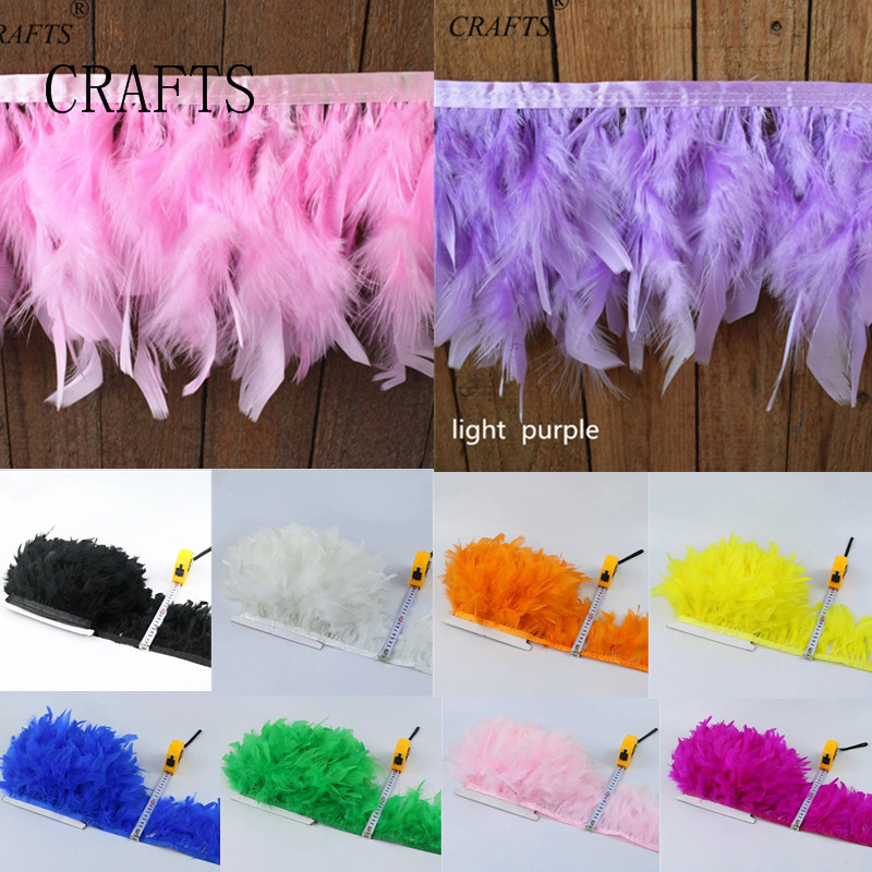 5-10 meters beautiful turkey feather trimming edge 10-15cm trim carnival costumes DIY Accessories