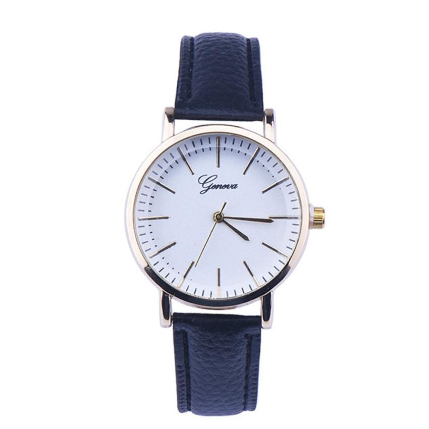 2016 wrist watches faux leather analog quartz reloj