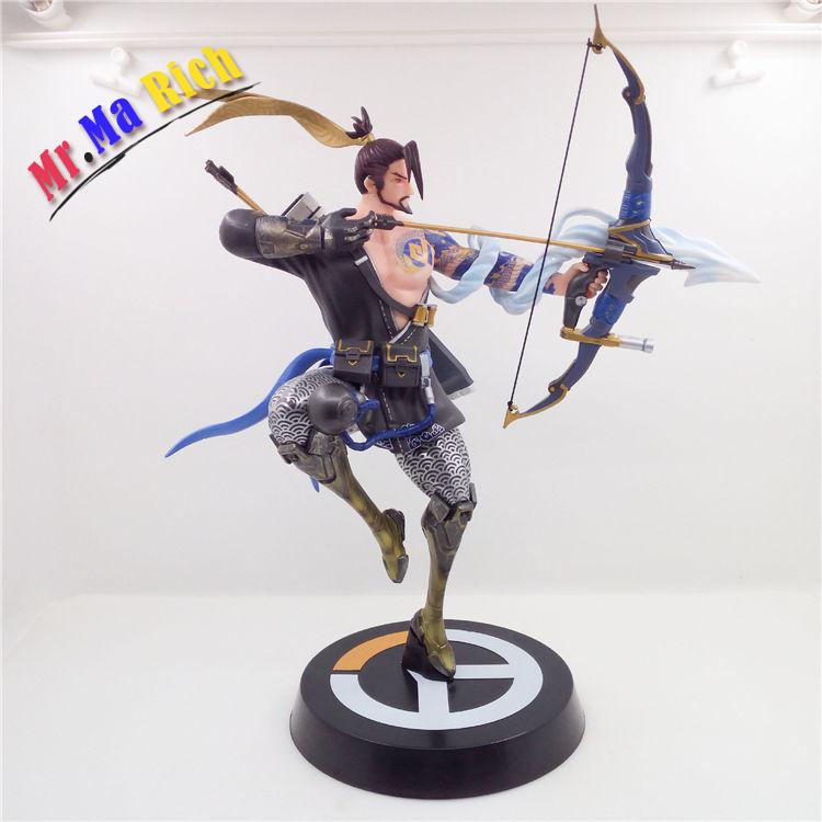 Ow Heroes strike Hanzo Shimada Pvc Figure Statue Model new ow heroes dva hana song mecha d va pvc figure statue model gift toy collectibles model doll 480
