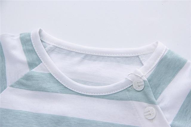 Newborn Clothing Set Casual Summer Baby Set Kids Short Sleeve Sports Set Tshirt Shorts Infant Baby Clothes 6-24Month 2
