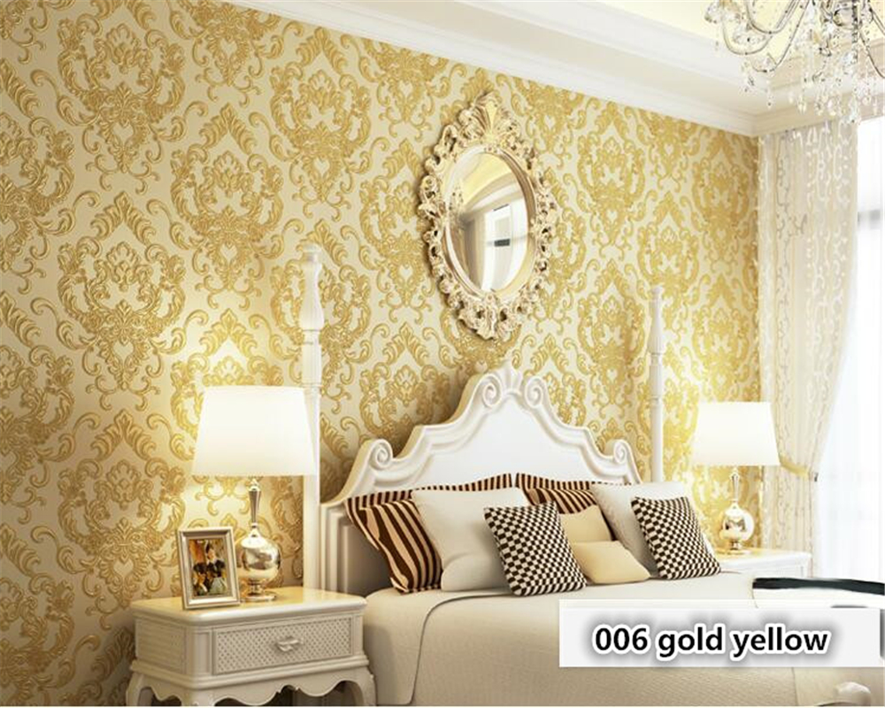beibehang European classic bedroom nonwoven wallpaper embossed clothing living room TV background wall papel de parede	 tapety beibehang 3d precision three dimensional nonwoven papel de parede 3d wallpaper classic warm living room bedroom wallpaper tapety