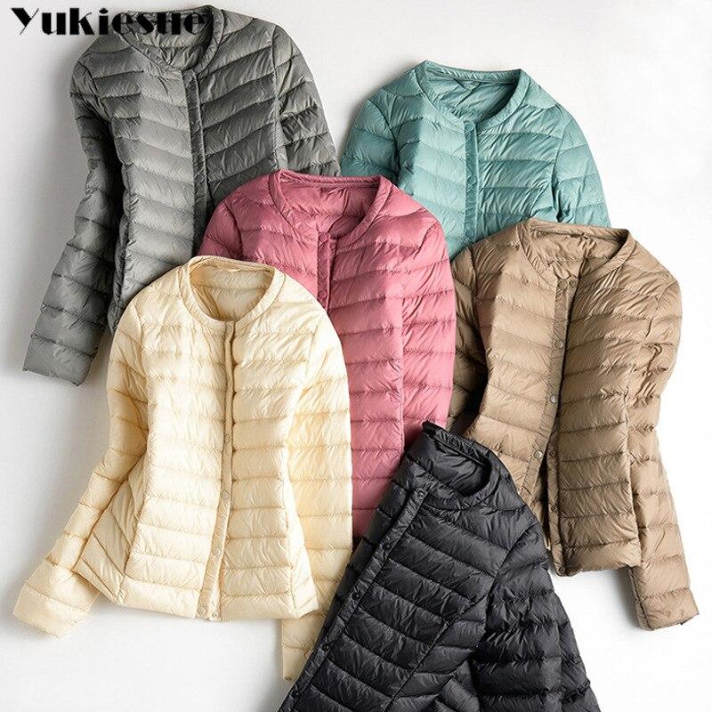 2018 Spring Plus Size 3XL Womens   Down   Jackets Ultra Light Duck   Down     Coat   Slim Short Black Autumn Women Jacket