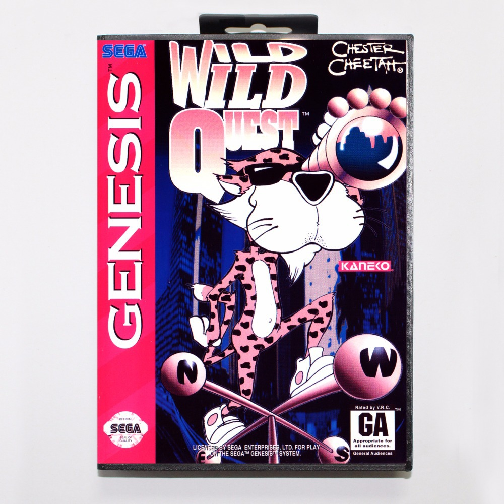 Chester Cheetah Wild Wild Quest Game Cartridge 16 bit MD Game Card With Retail Box For Sega Mega Drive For Genesis