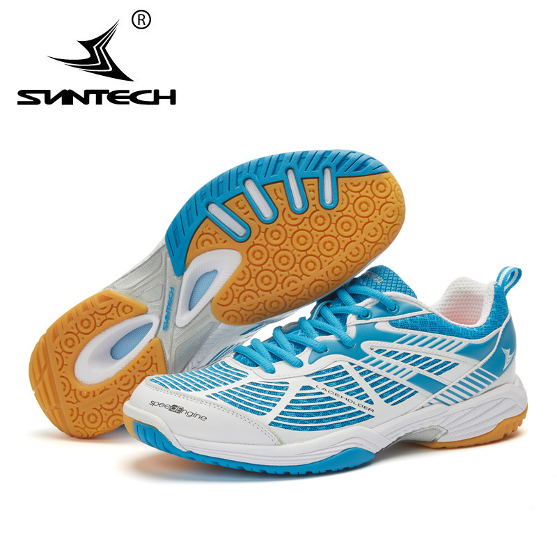 2017 Suntech Men Badminton Shoes Top high quality Anti-Slippery Light Sneakers lace holder technology Breathable Sport Shoes new balance nb574 2018 new authentic encap mesh breathable sneakers men sport shoes anti slippery badminton shoes wide
