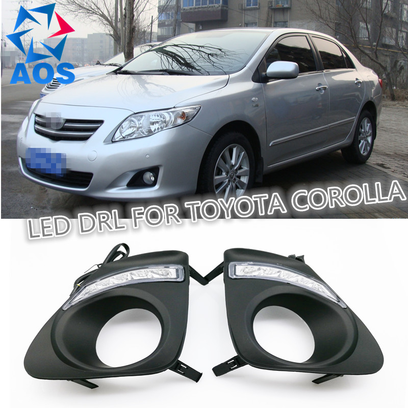 2PCs/set Super Bright LED DRL waterproof Daylight Daytime Running lights For Toyota Corolla 2010 2011 2012 2013 2pcs set led drl car daylight daytime running lights for buick regal opel insignia 2009 2010 2011 2012 2013 turn signal lamps