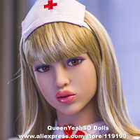Head For Silicone Real Sex Dolls Oral Love Doll Heads Sexy Toys Can Fit For Body from 140cm To 170cm Full Size Adult Dolls