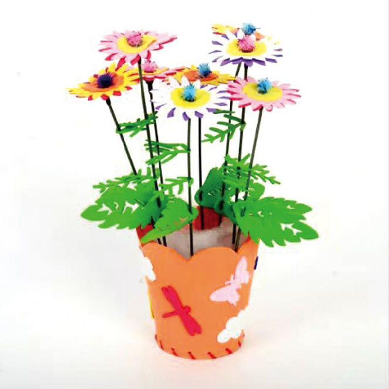 1set Creative Flower Pot Potted EVA Children Hand Material Production Materials
