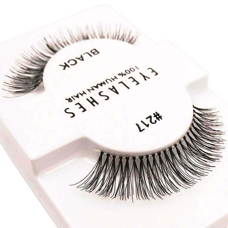 e121b2277d1 Handmade crisscross natural eyelashes professional make up eyelash  extension tools trendy #217 false lashes made