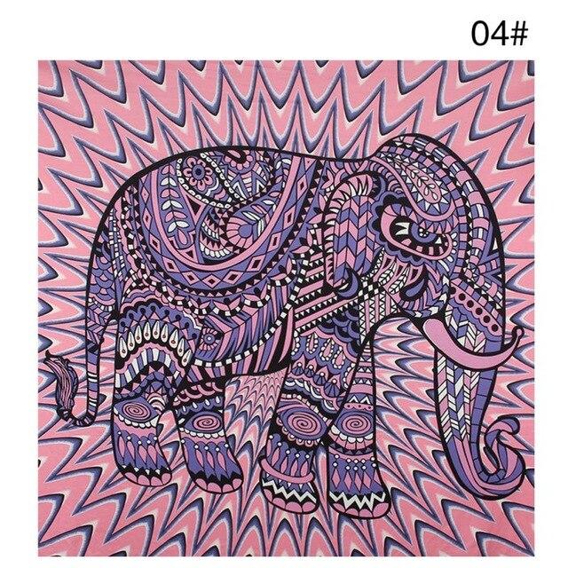 Bohemian Mandala Elephant Tapestry Wall Hanging Sandy Beach Picnic Throw Rug Blanket Camping Tent Travel Sleeping Pad 4