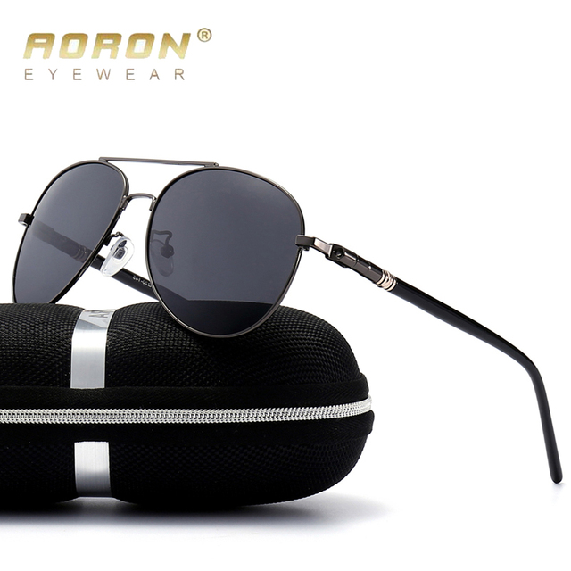 a7a71606fa AORON Aleación Clásica Hombres Conductor gafas de Sol Polarizadas gafas de  Visión Nocturna de la Lente
