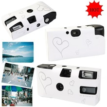 OurWarm Wedding Gifts For Guests Wedding Souvenirs Heart Disposable Camera 36 Photos for Wedding Decoration