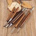 6 unids Arcilla Shapers Sculpting Set Herramientas de Alfarería Cera Carving Sculpt Suavizado de Polímero Modelado Tallado Herramienta Mango De Madera Conjunto
