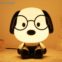 Lovely Cartoon LED Dog Night Light Lamp Fog Bear Panda Night Lamps for Kids Bedroom Children Baby Nursery With Switch