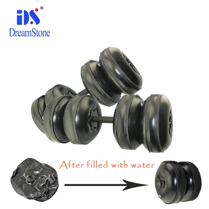 2018 New Arrival Weight adjustable Dumbbell Water Filled Dumbbells Gym Exercise with Water Dumbbell in hotel/home ues