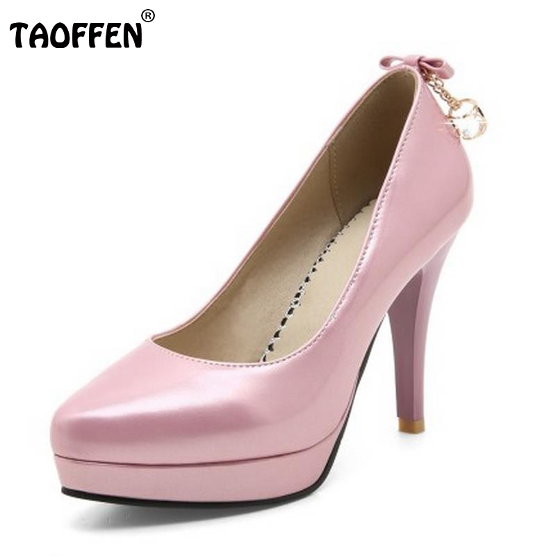 Ladies High Heel Shoes Women Patent Leather Thin Heels Pumps Fashion Sexy Platform Wedding Party Shoes Footwear Size 33-43 p23128 women patent leather thin heel pumps elegant pointed head stiletto fashion simple style ladies heeled shoes size 33 42