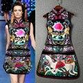 Пром партия весна лето Китайский ретро Ветер платье халаты вышитые cheongsam певица танцор звезда ночной клуб производительности шоу